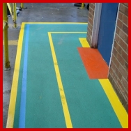 Factory safet Walkway Markings