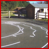 Playground Road with Zebra Crossing Markings